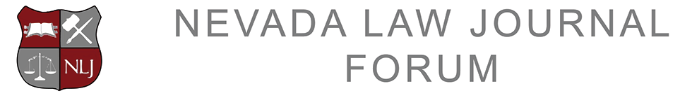 Nevada Law Journal Forum